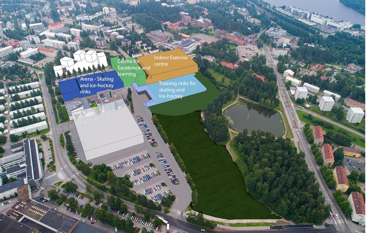 Hippos2020 uusi suunnitelma rakennusten nimillä englanniksi