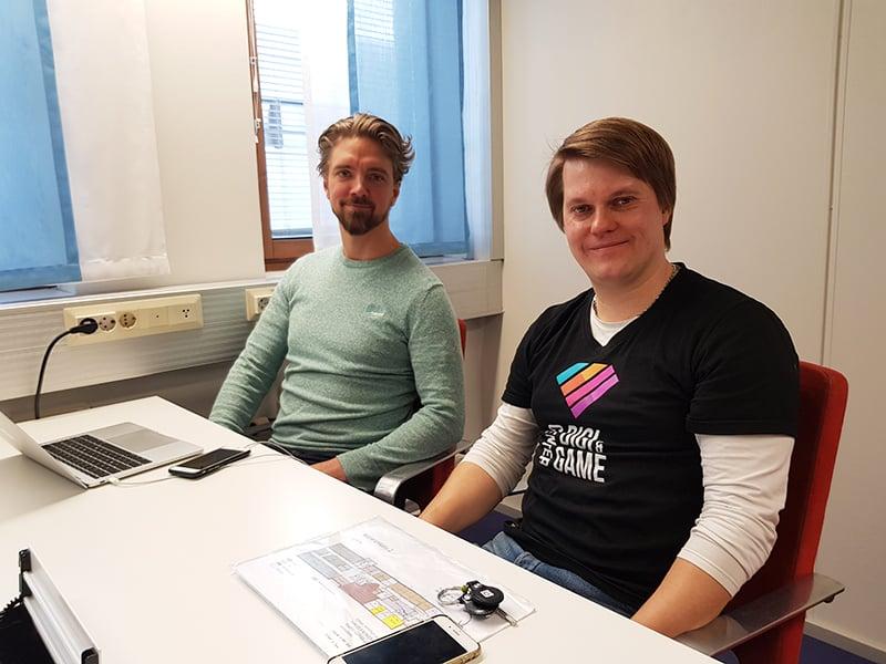 Teemu Vähä-Ruka gApplication ja Tuomas Roininen Expa
