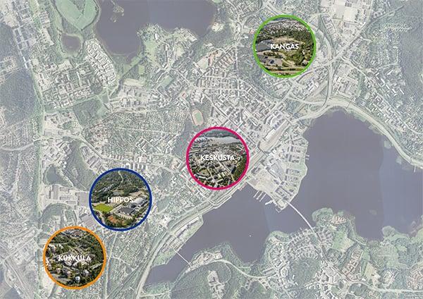 kaupunkikehitysalustat karttakuva