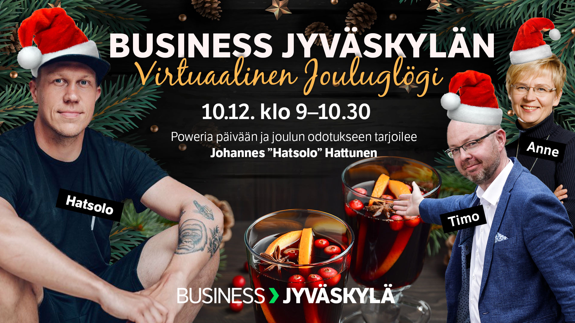 Business Jyväskylän Virtuaalinen Jouluglögi 10.12.