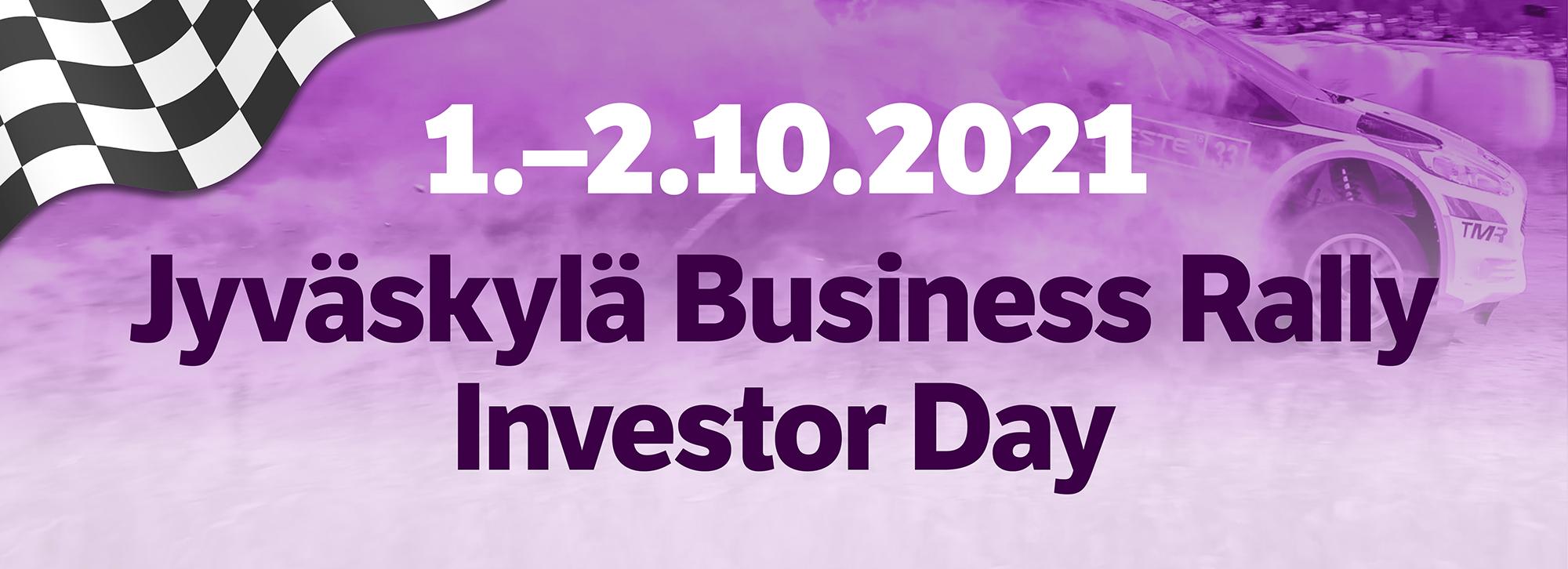 Jyväskylä Business Rally Investor Day -tapahtumaa voi seurata streamina 1.-2.10.