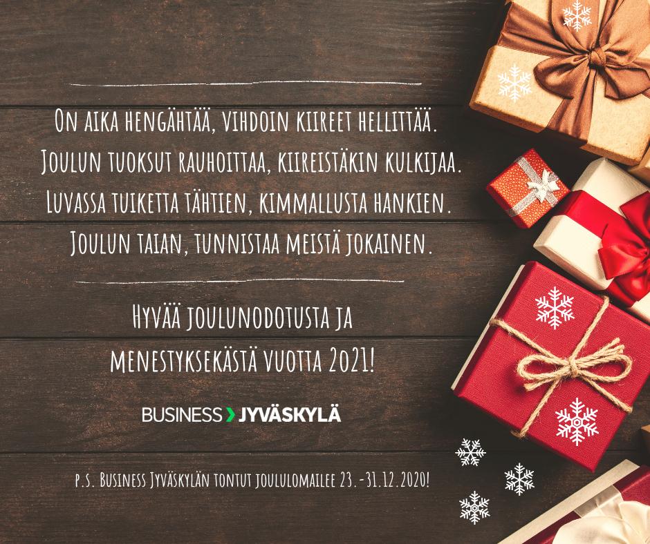 Hyvää joulunaikaa ja menestyksekästävuotta 2021!