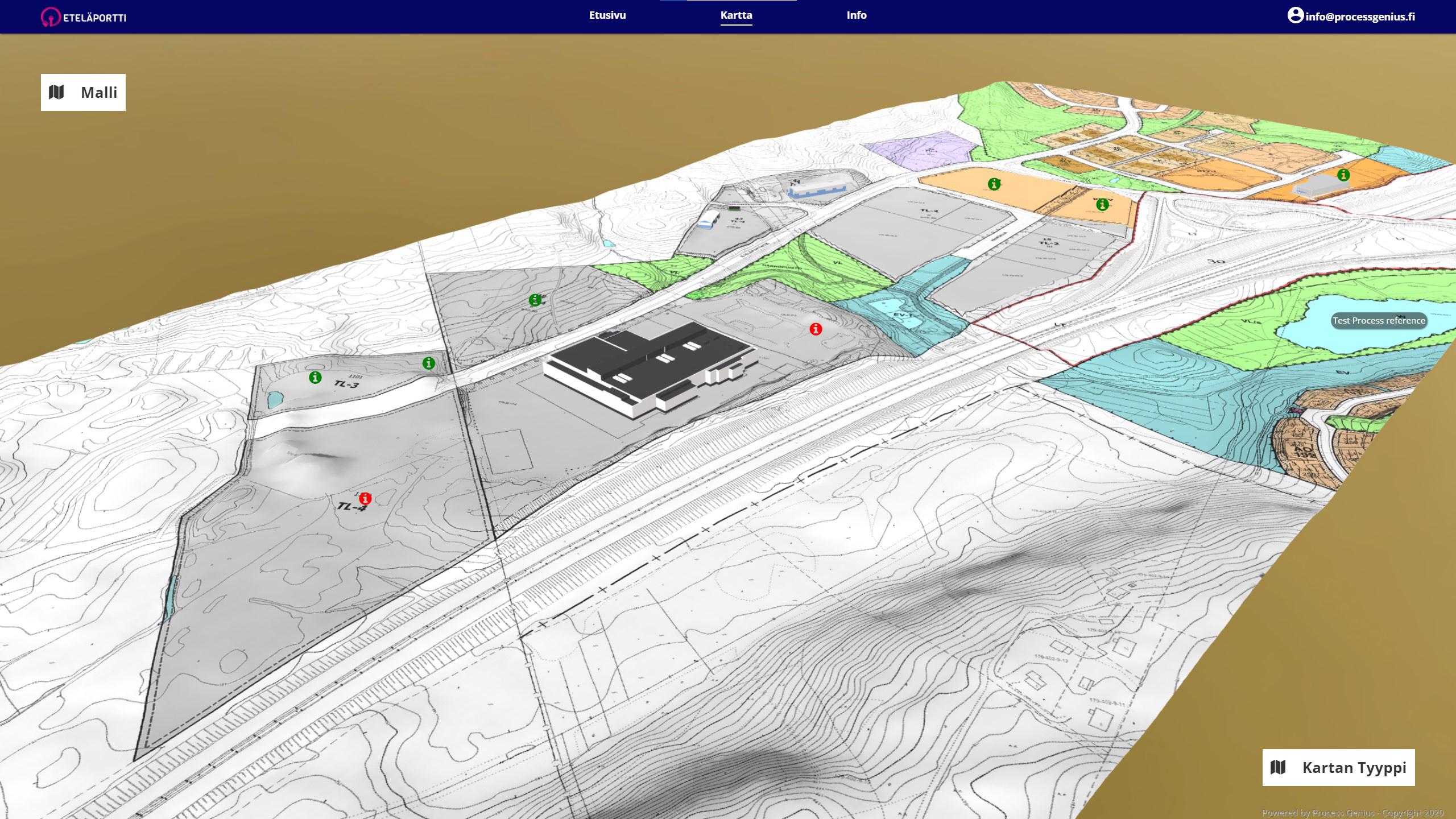 Hankkeiden suunnitteluun tarkoitettu Eteläportin virtuaalialusta on julkaistu