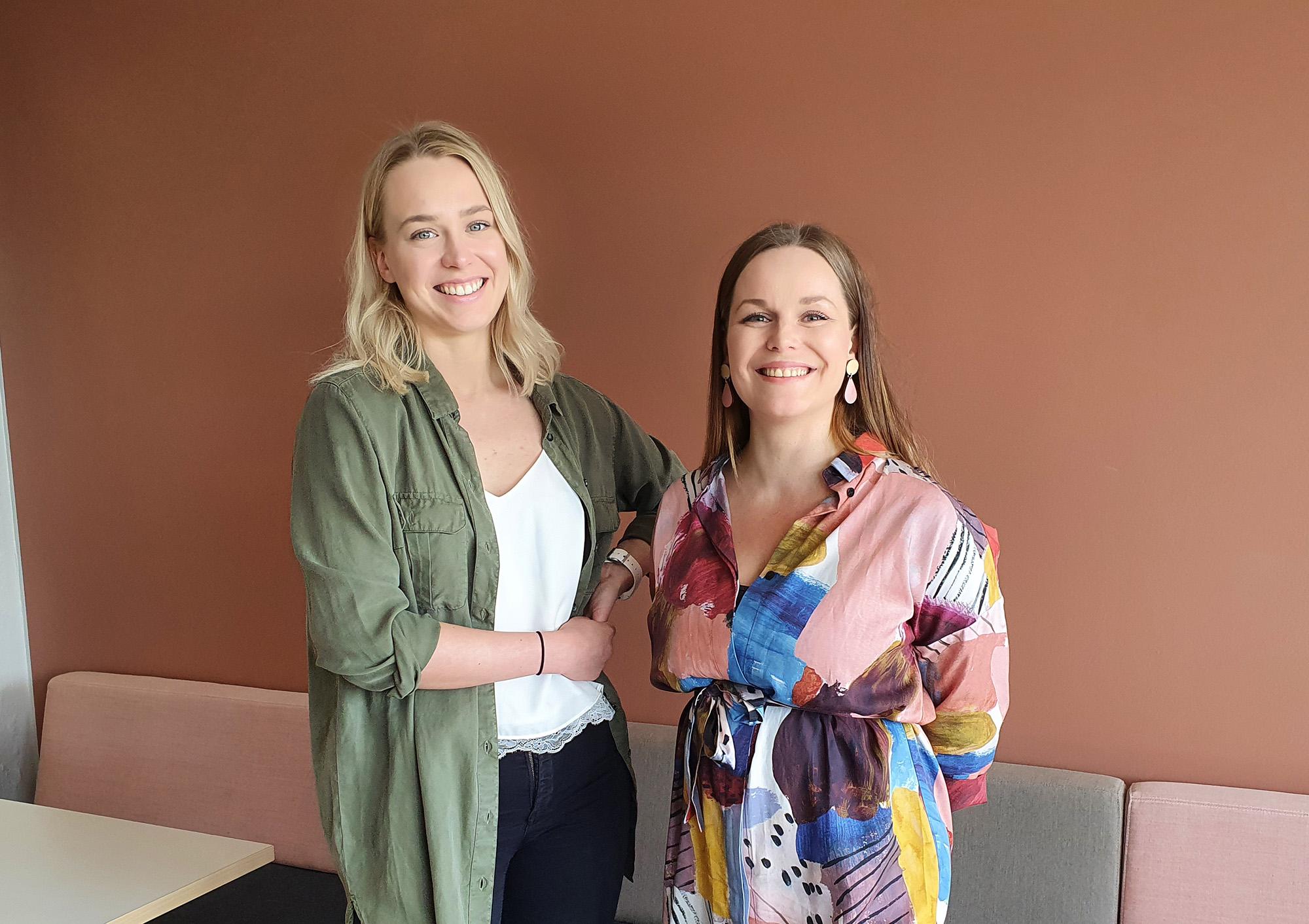 Johanna Hentunen ja Nelli Eerikäinen ovat aloittaneet ekosysteemityön projektisuunnittelijana ja -koordinaattorina
