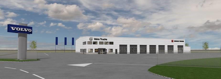 Volvo Truck Center investoi uudelle Itäisen Palokärjen yritysalueelle