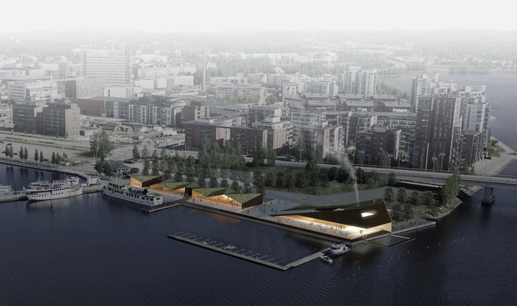Jyväskylän kaupunki ja Osuuskauppa Keskimaa yhteistyösopimukseen Satamankärjen sauna-ravintolasta